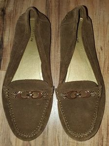 Coach Fortunata brown suede loafers Brand Sz 10